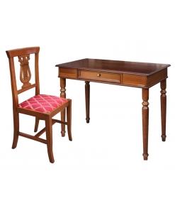 Set-Büro, Schreibtisch mit Stuhl