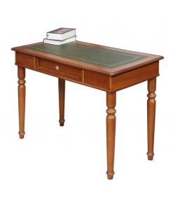 Schreibtisch mit Lederplatte , Schrebitisch 1 Schublade