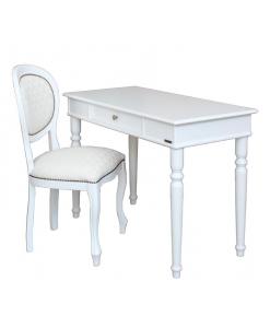 Schreibtisch mit Stuhl weiß, Schreibtisch mit Stuhl
