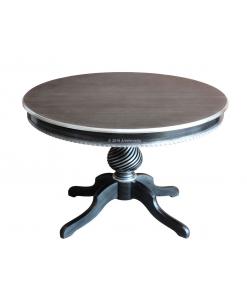 Tisch schwarz, Tisch rund