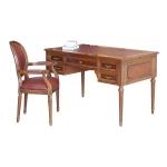 Schreibtisch und Lehnsessel, Schreibtisch, Lehnsessel