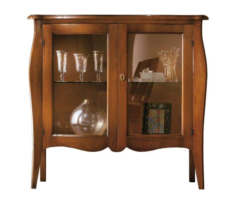 kleine vitrine 2 glast ren niedrig frank m bel. Black Bedroom Furniture Sets. Home Design Ideas