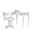 Büro-Set weiß, Schreibtisch weiß, Arteferretto