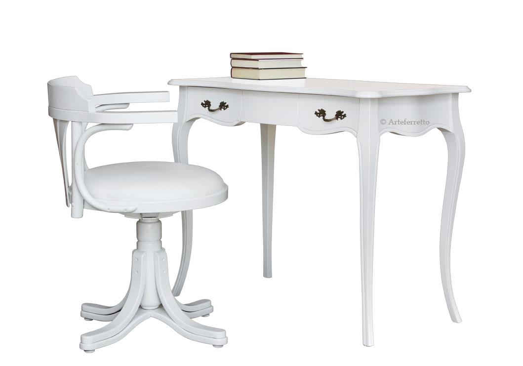 b ro set wei schreibtisch mit drehstuhl frank m bel. Black Bedroom Furniture Sets. Home Design Ideas