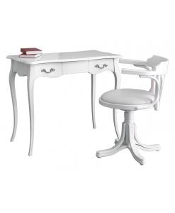Büro-Set weiß, Schreibtisch weiß