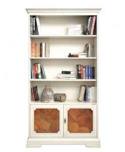 Bücherregal mit Wurzelholz, Bücherschrank