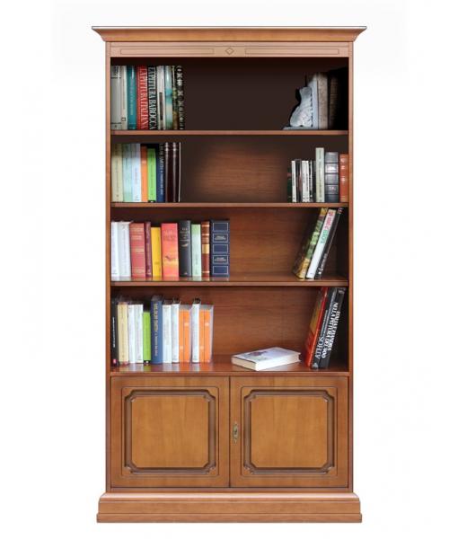 Bücherschrank 2 Türen, Bücherschrank mit Einlegeböden, Art.-Nr. 201