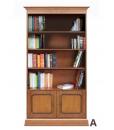 Bücherschrank 2 Türen, Bücherschrank mit Einlegeböden