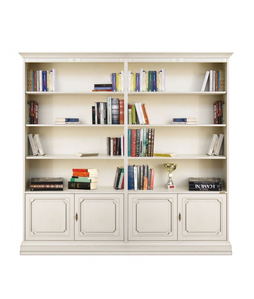 regalwand elfenbein mit 4 t ren frank m bel. Black Bedroom Furniture Sets. Home Design Ideas