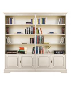Regalwand Elfenbein, Bücherschrank