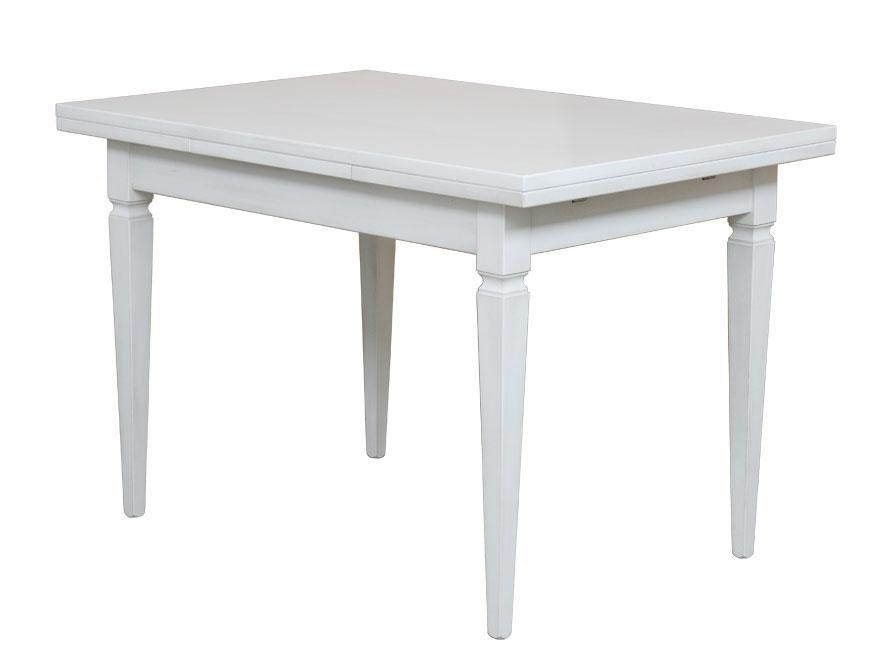 Tisch rechteckig esszimmer zusatzplatte wei 4 beine for Tisch naturholz