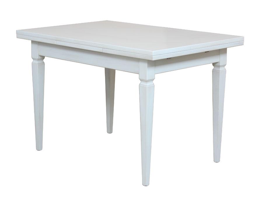 tisch rechteckig esszimmer zusatzplatte wei 4 beine naturholz neu aus italien ebay. Black Bedroom Furniture Sets. Home Design Ideas