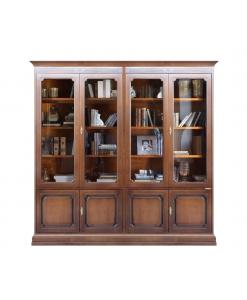 Bücherschrank, Vitrine, Vitrine mit Türen, Wandvitrine