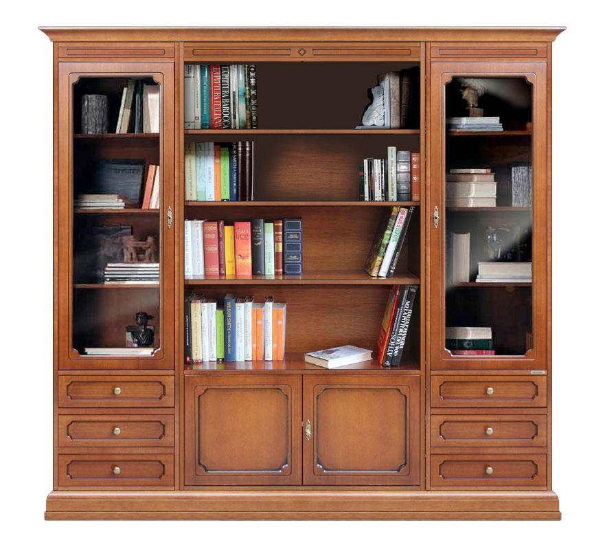 b cher wohnwand klassisch frank m bel. Black Bedroom Furniture Sets. Home Design Ideas