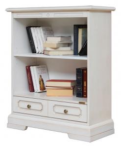 niedriges Bücherregal, Bücherregal 1 Schublade