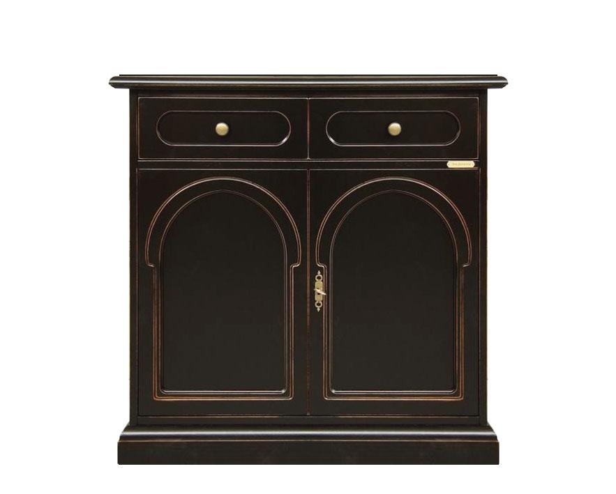 schwarze anrichte ber kirschholz frank m bel. Black Bedroom Furniture Sets. Home Design Ideas