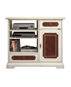 TV-Möbel mit Leder, TV-Möbel elegant