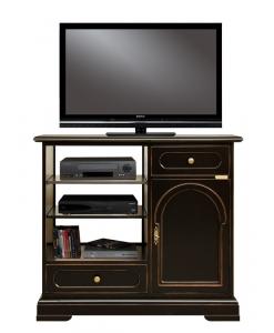 Schwarzer TV-Schrank, TV-Schrank mit Einlegeböden