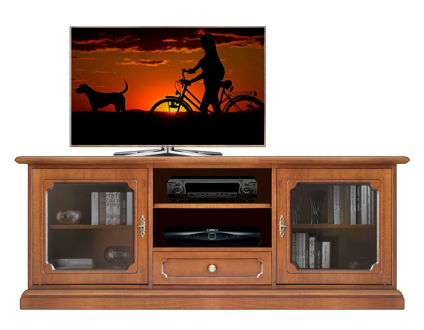 tv lowboard 150 cm glast ren ebay. Black Bedroom Furniture Sets. Home Design Ideas