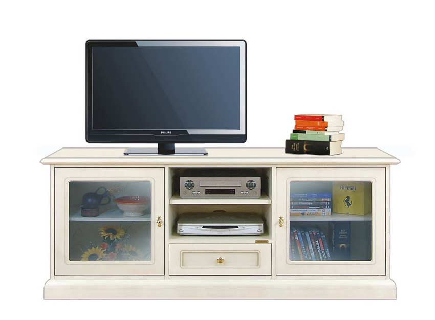 tv lowboard 2 glast ren 150 cm frank m bel. Black Bedroom Furniture Sets. Home Design Ideas