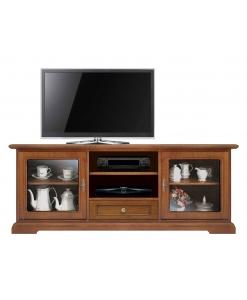 TV-Lowboard 2 Glastüren, Tv-Möbel 2 Glastüren