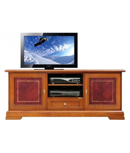 tv m bel mit t ren aus leder frank m bel. Black Bedroom Furniture Sets. Home Design Ideas