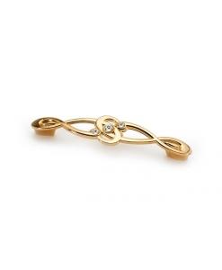 Knopf aus glänzendem Gold, Knopf, Swarovski-Knopf, Zubehör für Möbel