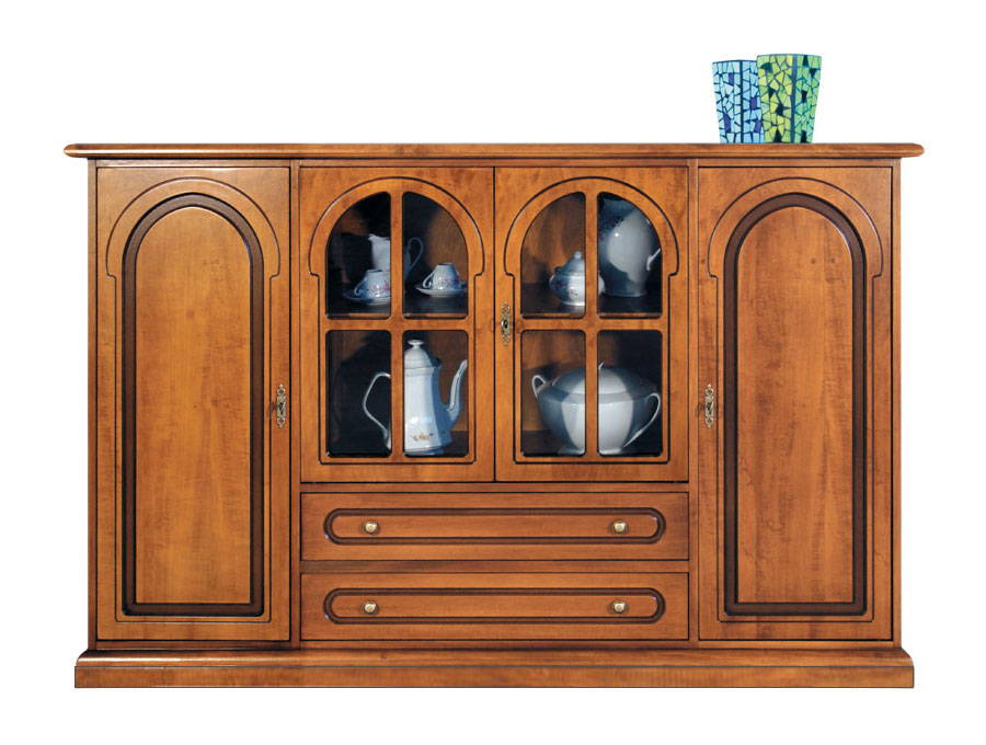 sideboard mit glast ren und schubladen frank m bel. Black Bedroom Furniture Sets. Home Design Ideas