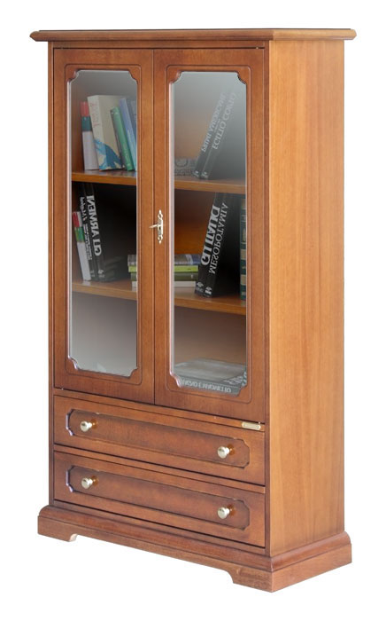 kleine vitrine 2 schubk sten 2 t ren ebay. Black Bedroom Furniture Sets. Home Design Ideas