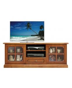 TV-Lowboard Glastüren, TV-Lowboard 150 cm