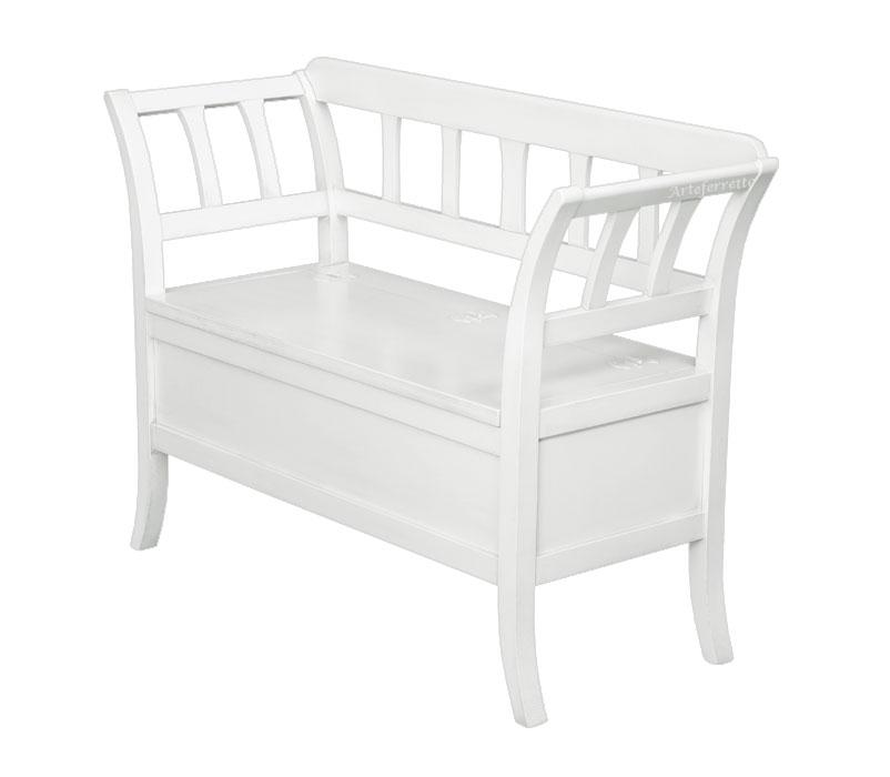 sitzbank mit klappe wei ebay. Black Bedroom Furniture Sets. Home Design Ideas