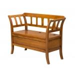 Sitzbank mit Klappe, Sitzbank aus Holz, Truhe