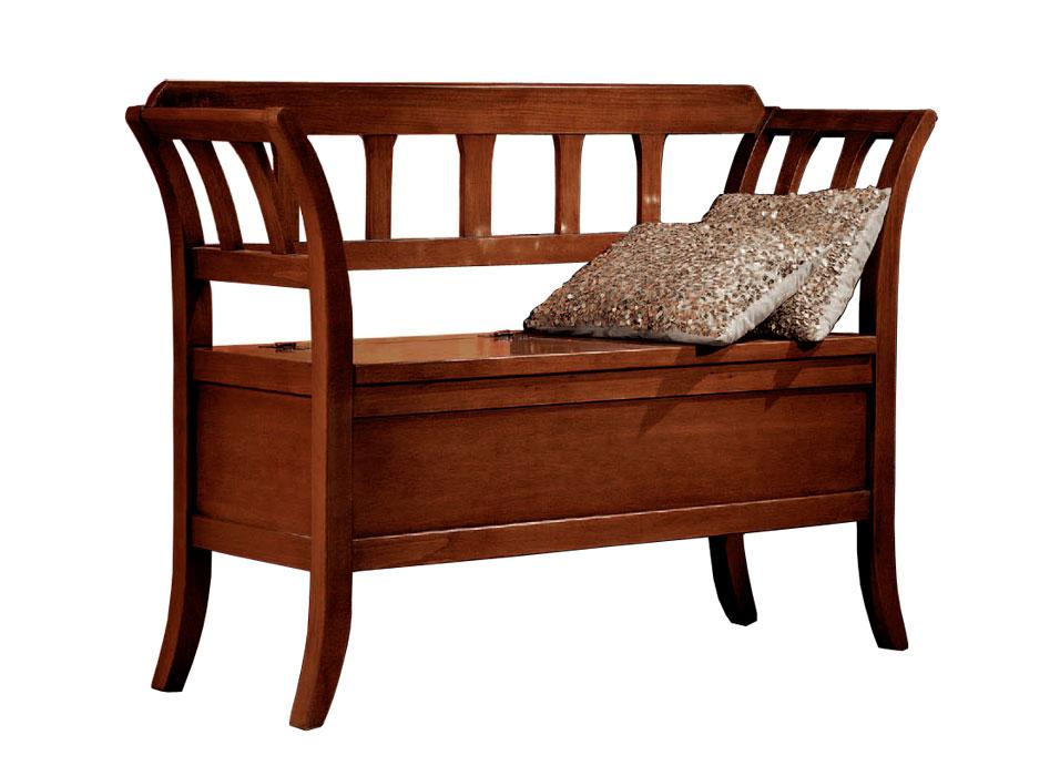 sitzbank mit klappe aus holz frank m bel. Black Bedroom Furniture Sets. Home Design Ideas