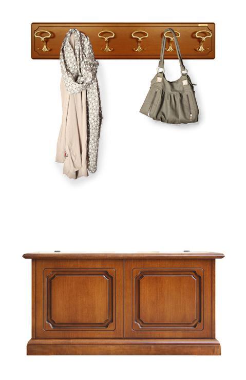 Garderobe set truhe und wandgarderobe ebay for Wandgarderobe set