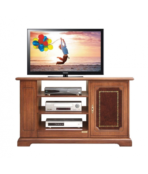 tv rack mit ledert r klassisch frank m bel. Black Bedroom Furniture Sets. Home Design Ideas