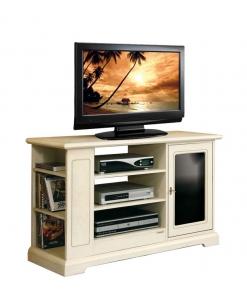 TV-Möbel schwarz und weiß, TV-Möbel zweifarbig