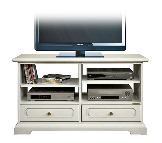 tv rack lackiert 2 schubladen frank m bel. Black Bedroom Furniture Sets. Home Design Ideas