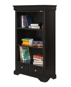 schwarzes Bücherregal, Schrank Louis Philippe