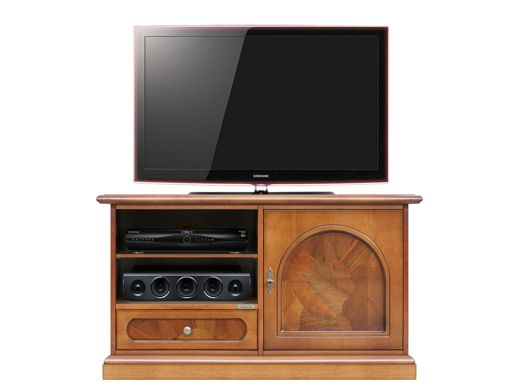 tv schrank wurzelholz 1 t r 8052740970398 ebay. Black Bedroom Furniture Sets. Home Design Ideas