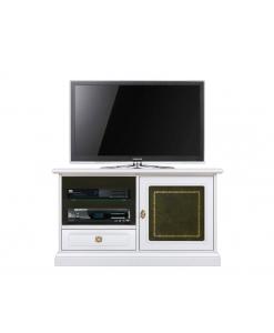 TV-Möbel mit Leder Grün, TV-Möbel Grün