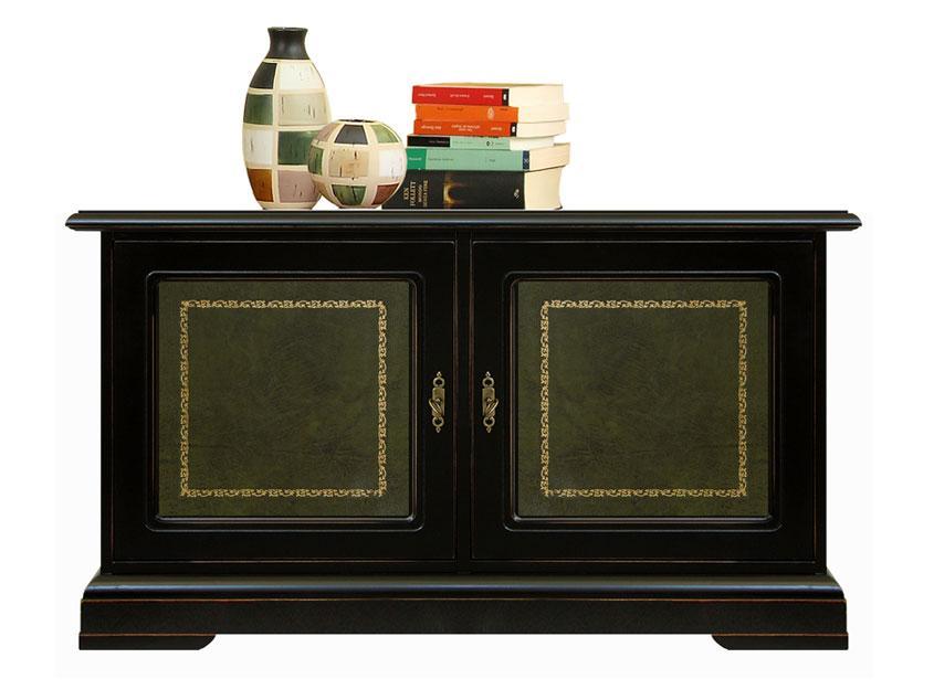 kleiner schrank schwarz ledert ren ebay. Black Bedroom Furniture Sets. Home Design Ideas