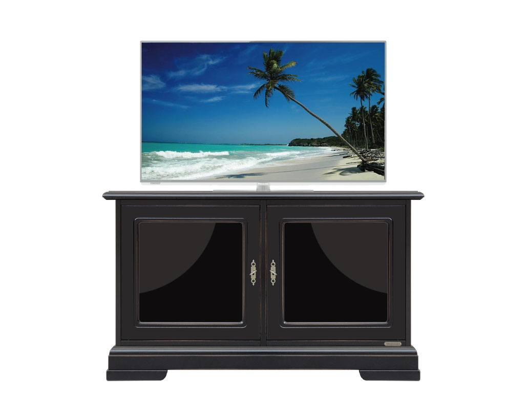 schwarzer schrank klein mit glas frank m bel. Black Bedroom Furniture Sets. Home Design Ideas