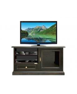 TV-Möbel schwarz aus Holz