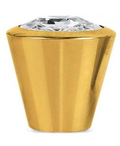 goldener Knopf, Knopf, Swarovski-Knopf aus glänzendem Gold