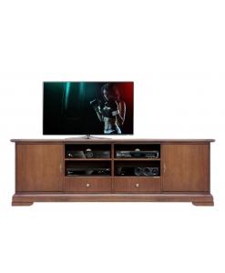 TV-Lowboard mit Schubladen, TV-Lowboard glatt