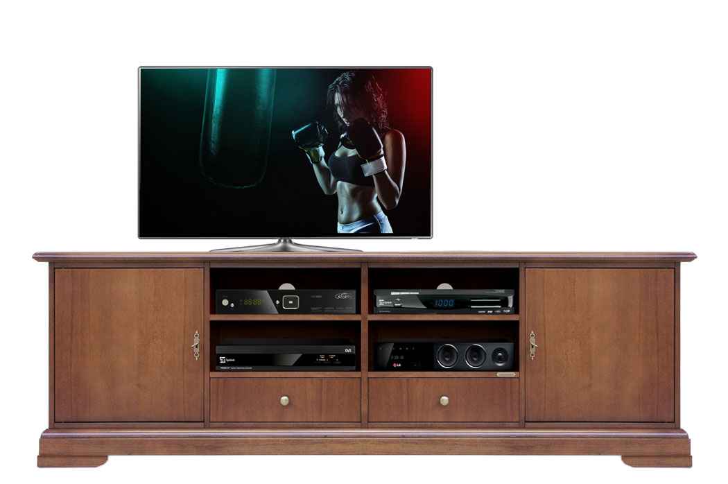 tv lowboard mit schubladen 2 m frank m bel. Black Bedroom Furniture Sets. Home Design Ideas