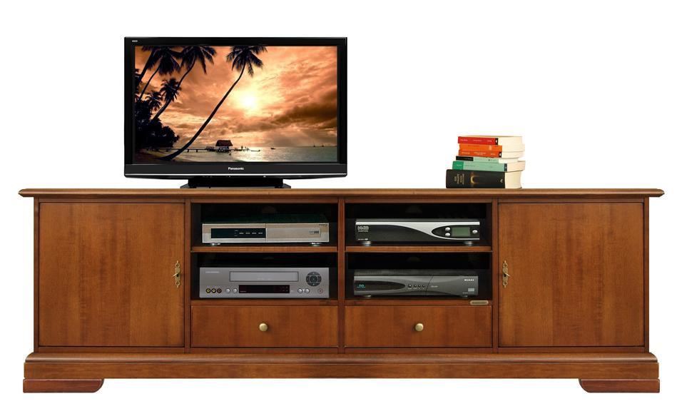 tv lowboard mit schubladen 2 m ebay. Black Bedroom Furniture Sets. Home Design Ideas