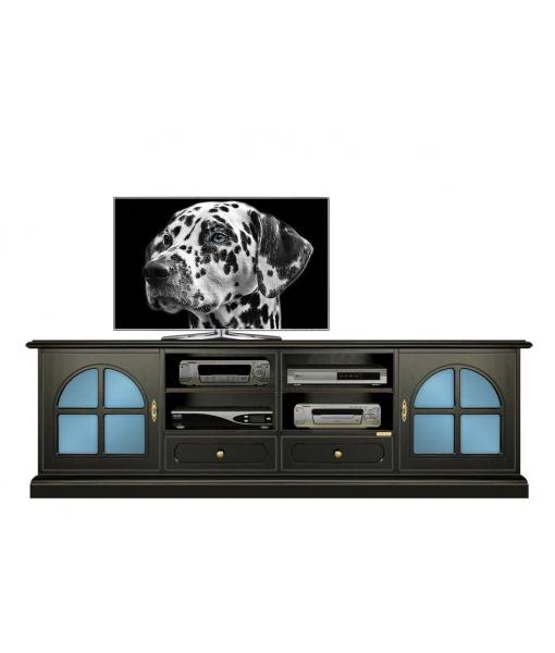 TV-Lowboard Schwarz und Blau, TV-Lowboard zweifarbig, Art.-Nr. 4010-Black