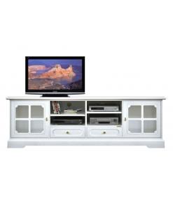 TV-Lowboard weiß, TV-Lowboard lackiert