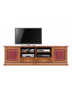 TV-Lowboard mit Leder, TV-Lowboard 2 Ledertür